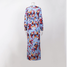Load image into Gallery viewer, Maternity Split Print Maxi Dress
