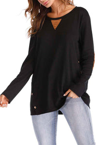 Maternity Loose Solid Color Long Sleeve T-Shirts