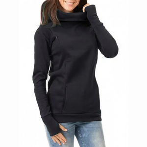 Maternity Fashion Casual Solid Color Hoodies