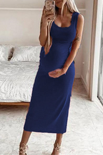 Load image into Gallery viewer, Maternity Casual Solid Color Sleeveless Bodycon Dress