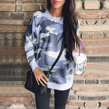 Load image into Gallery viewer, Maternity Casual Round Collar Camouflage Printed Sweatshirts