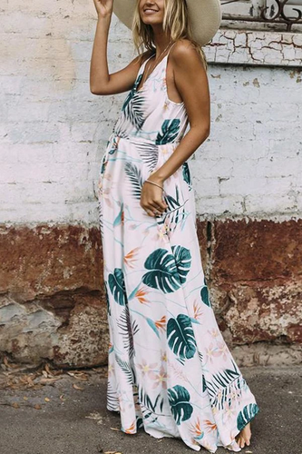 Maternity Fashion Casual Floral Print Vacation Maxi Dress