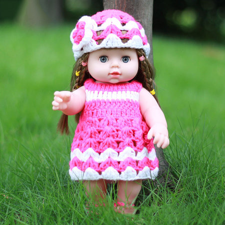Mini Simulation Baby Dolls Blink Full PVC Doll Children's Christmas Gifts