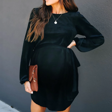Load image into Gallery viewer, Maternity Fashionable Round Neck Casual Dress