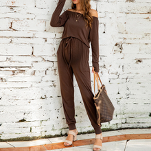 Load image into Gallery viewer, Maternity Solid Colour Long Sleeve Elastic Jumpsuits