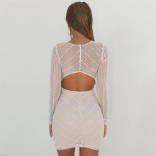 Load image into Gallery viewer, Maternity Sexy Lace Long Sleeve Bare Back Dress