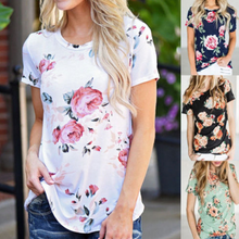 Load image into Gallery viewer, Maternity Round Neckline Printed Short Sleeve T-Shirts