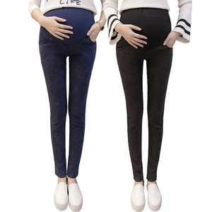 Maternity Casual Pants With Small Feet And Belly Stretch Jeans