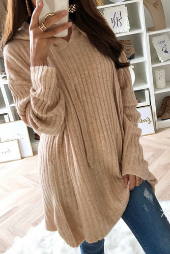 Maternity Casual Long Sleeved Loose Hooded Sweater