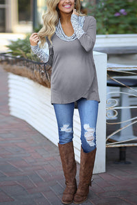 Maternity Striped Color Matching Irregular Long Sleeves Sweatershirts