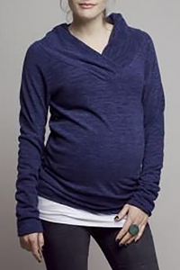 Maternity Leisure Pure Color Long-Sleeved Sweatershirts