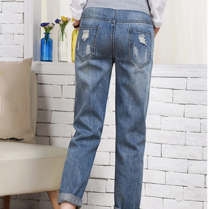 Maternity Fashion Loose Hole Straight Jeans