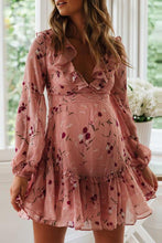 Load image into Gallery viewer, Maternity V Neck Printed Color Long Sleeve Dress