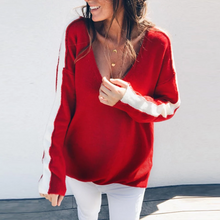 Load image into Gallery viewer, Maternity Fashion V Neck Long Sleeve Sweater