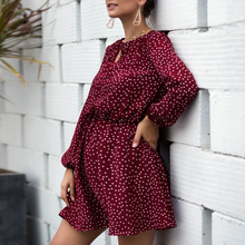 Load image into Gallery viewer, Maternity V-Neck Long-Sleeve Dot Printing Dress