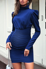 Load image into Gallery viewer, Maternity High Neck Pure Color Long Sleeve Dress