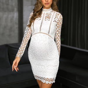 Maternity Fashion Solid Color Cutout Long Sleeve Dress