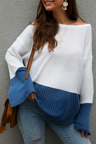 Maternity Simple Casual One-Neck Collar Sweater