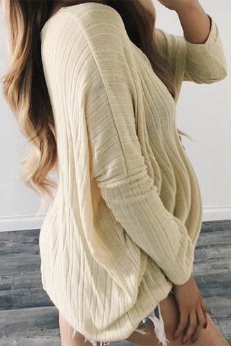 Maternity Round Neck Batwing Sleeve Loose Sweater