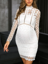 Load image into Gallery viewer, Maternity Fashion Solid Color Cutout Long Sleeve Dress