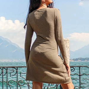 Maternity Fashion Casual Simple Solid Color Dress