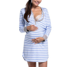 Load image into Gallery viewer, Maternity Stripe Nursing & Feeding Dress