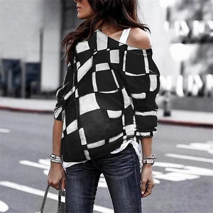 Maternity Fashion Stitching Long-Sleeved T-Shirts
