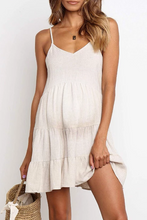 Load image into Gallery viewer, Maternity Plain Spaghetti Strap Cotton Casual Dess