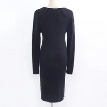 Load image into Gallery viewer, Maternity Sexy Chest Cross V-neck Long Sleeve Dress