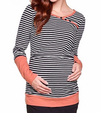 Load image into Gallery viewer, Fashion Casual Nursing Tops Maternity shirt Breastfeeding T-Shirts