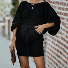 Load image into Gallery viewer, Maternity Fashion Black Casual Dress