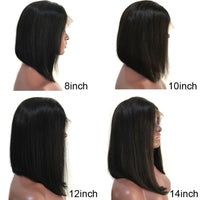 Bob Wig, Full Lace Wig, Brazilian Human Hair Wig, Pre-Plucked-Wig-online-hair-extensions-wigs.com