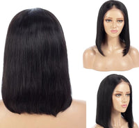 Bob Wig, Full Lace Wig, Brazilian Human Hair Wig, Pre-Plucked-Wig-online-8inches-hair-extensions-wigs.com