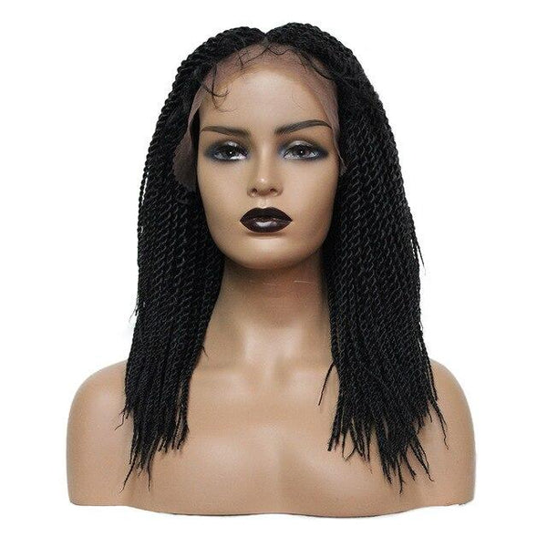 Chloe Braided Wig - 18 inches Lace Front Wigs-Wig-Hair Extensions & Wigs