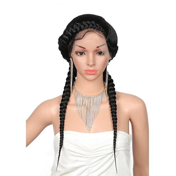 Claire Hand-Braided Wig - 24 Inches Lace Wigs-Wig-Hair Extensions & Wigs