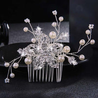 Crystal Pearls Wedding Hair Clips-Hair Clips-online-HS-J1084-S-hair-extensions-wigs.com