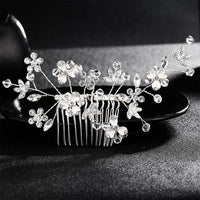 Crystal Pearls Wedding Hair Clips-Hair Clips-online-HS-J1554-S-hair-extensions-wigs.com