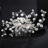 Crystal Pearls Wedding Hair Clips-Hair Clips-online-HS-J2590A-S-hair-extensions-wigs.com