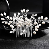 Crystal Pearls Wedding Hair Clips-Hair Clips-online-HS-J2634A-S-hair-extensions-wigs.com