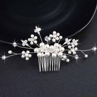 Crystal Pearls Wedding Hair Clips-Hair Clips-online-HS-J264-S-hair-extensions-wigs.com