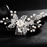 Crystal Pearls Wedding Hair Clips-Hair Clips-online-HS-J3350-S-hair-extensions-wigs.com