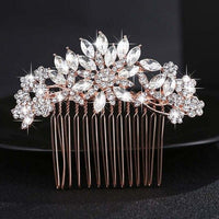 Crystal Pearls Wedding Hair Clips-Hair Clips-online-HS-J4098-RG-hair-extensions-wigs.com
