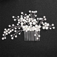 Crystal Pearls Wedding Hair Clips-Hair Clips-online-HS-J4538-S-hair-extensions-wigs.com