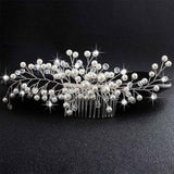 Crystal Pearls Wedding Hair Clips-Hair Clips-online-HS-J4871-S-hair-extensions-wigs.com