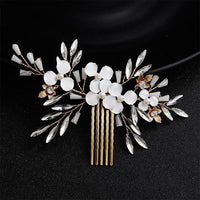 Crystal Pearls Wedding Hair Clips-Hair Clips-online-HS-J5471-G-hair-extensions-wigs.com