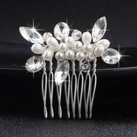 Crystal Pearls Wedding Hair Clips-Hair Clips-online-HS-J807-S-hair-extensions-wigs.com