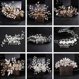Crystal Pearls Wedding Hair Clips-Hair Clips-online-hair-extensions-wigs.com