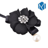 Hair Bun Maker, Floral Ribbon Hair Bun Maker-Hair Bun Maker-online-Black Bun Maker-hair-extensions-wigs.com