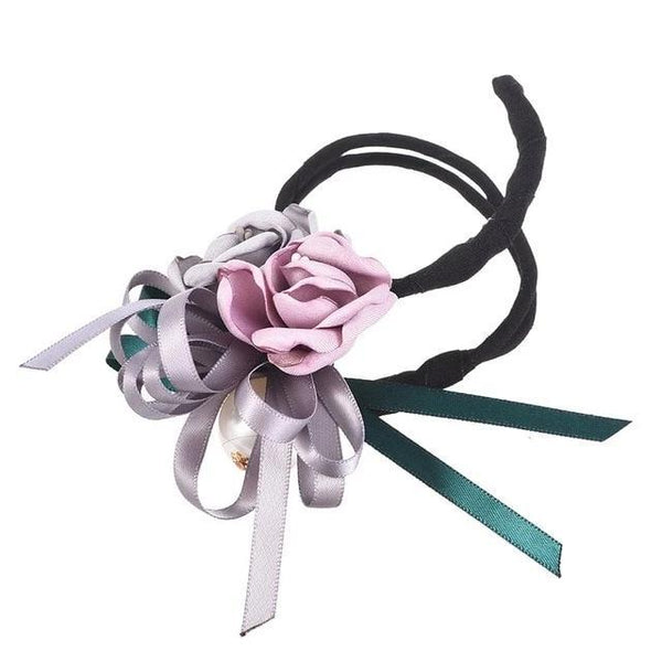 Hair Bun Maker, Floral Ribbon Hair Bun Maker-Hair Bun Maker-online-Color A-hair-extensions-wigs.com