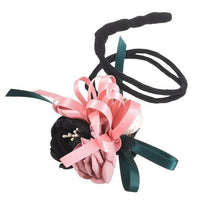 Hair Bun Maker, Floral Ribbon Hair Bun Maker-Hair Bun Maker-online-Color C-hair-extensions-wigs.com